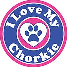 I LOVE MY CHORKIE DOG HEART I LOVE MY DOG PET PETS PUPPY STICKER STICKERS DECAL DECALS by MyHandmadeSigns