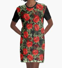 Bouquet Graphic T-Shirt Dress