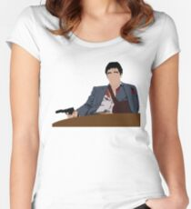 Scarface - Tony Montana  Women's Fitted Scoop T-Shirt