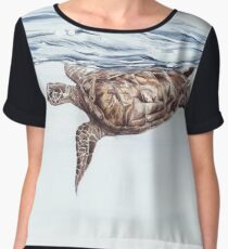 Caretta Caretta on the Waterline Chiffon Top