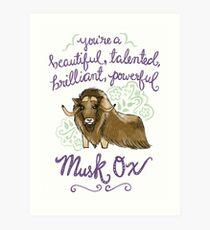 Beautiful musk ox Art Print