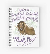 Beautiful musk ox Spiral Notebook