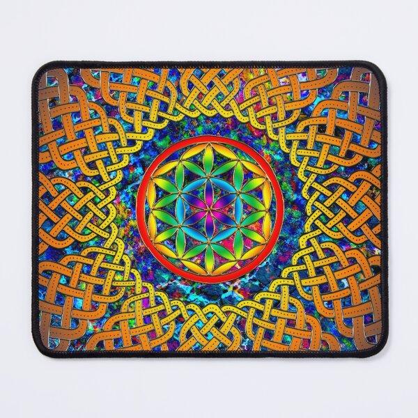 Flower of Life Celtic Mandala Mouse Pad