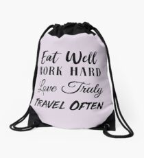 Tips for a great life Drawstring Bag