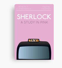 Sherlock - A Study in Pink Canvas Print