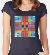 ERQ#2 - Abstract Watercolor by Dan Vera Women's Fitted Scoop T-Shirt