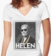 OG Helen  Women's Fitted V-Neck T-Shirt