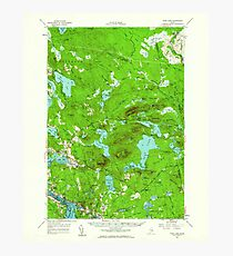Maine USGS Historical Map Tunk Lake 460971 1957 62500 Photographic Print