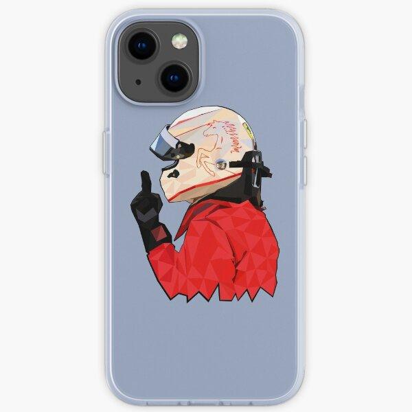 Sebastian Vettel Low-Poly-Kunst iPhone Flexible Hülle