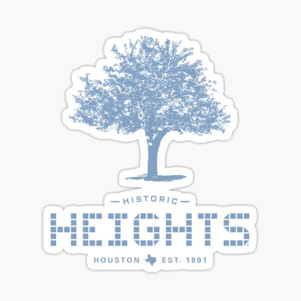 Heights Tile & Tree - Heights Design Collection - Houston Heights Sticker