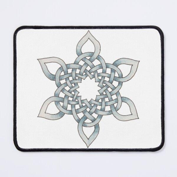 Celtic Knotwork Snowflake Mouse Pad