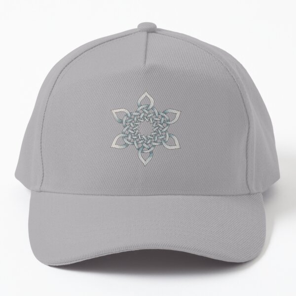 Celtic Knotwork Snowflake Baseball Cap