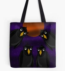 Halloween - Black ravens and bloody moon Tote Bag