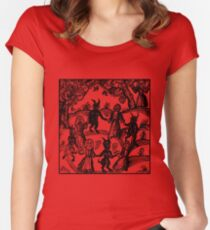 Dance with the Devil  Women's Fitted Scoop T-Shirt