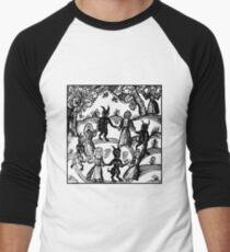 Camiseta ¾ bicolor para hombre Bailar con el demonio