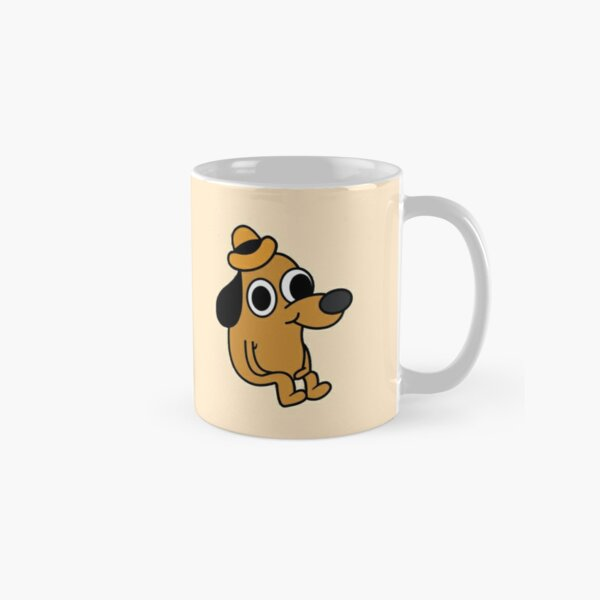 This Is Fine Dog Mugs   Redbubble