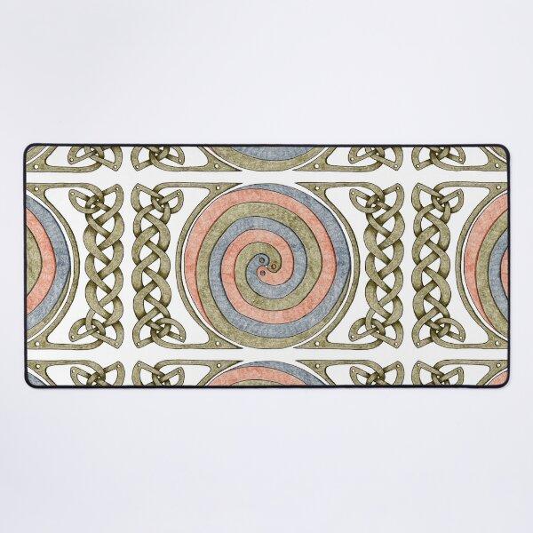 Celtic Spirals and Border - Earth Tones Desk Mat