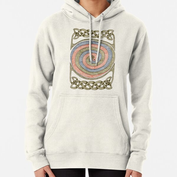 Celtic Spirals and Border - Earth Tones Pullover Hoodie
