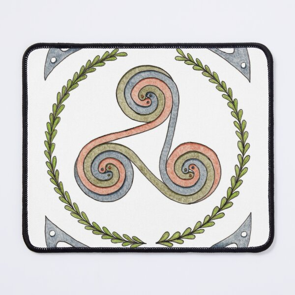 Triskelion and Celtic Border - Earth Tones Mouse Pad