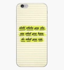 Start Where You Are iPhone Case