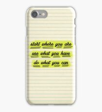 Start Where You Are iPhone Case/Skin