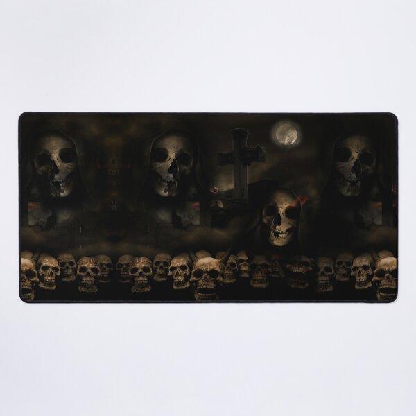 Gothic Skulls at Cemetery Desk Mat