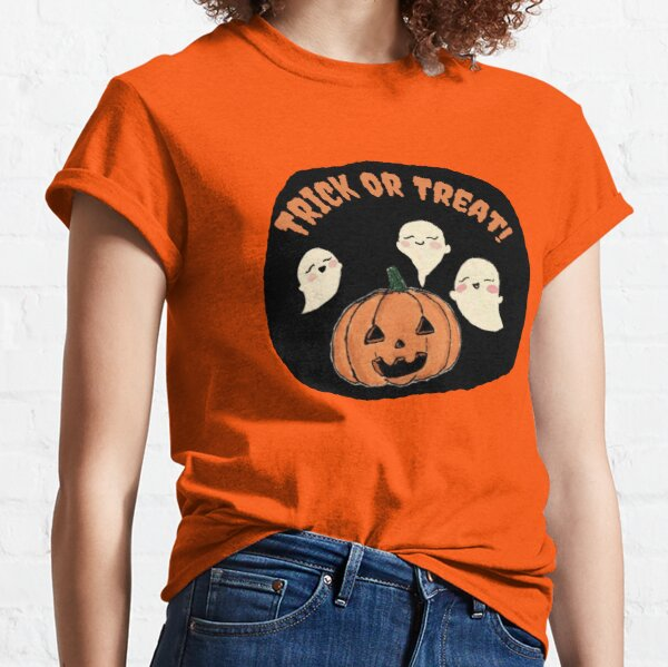 Trick Or Treat Halloween Ghosts by TiffyMichelley Classic T-Shirt