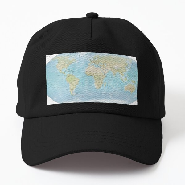 Physical Map of the World 2015 Dad Hat