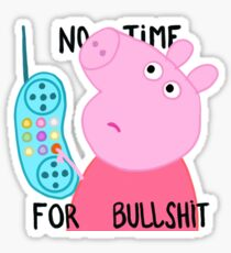 Peppa is not amused. Sticker