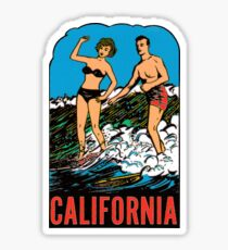 California CA State Surfing Vintage Travel Decal Sticker