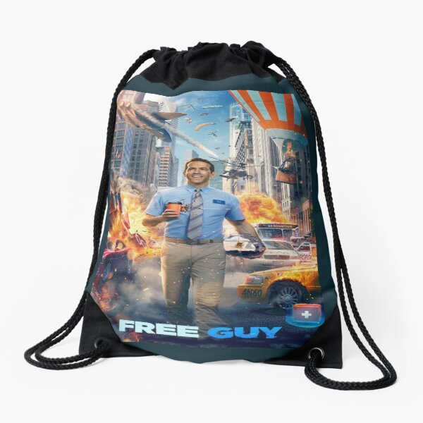 Free Guy New kind Of Hero Drawstring Bag