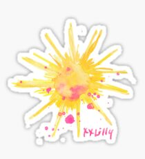 lilly pulitzer sun Sticker