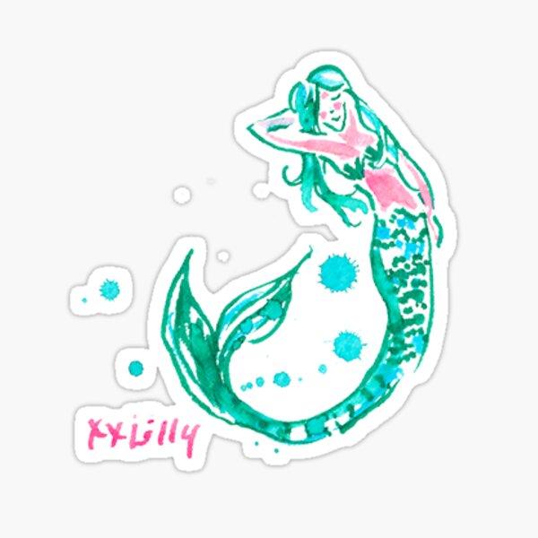 mermaid lilly pulitzer Sticker