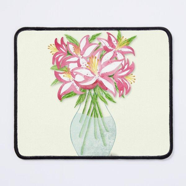 Stargazer Lilies Vase Mouse Pad
