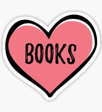 BOOKS (heart) Sticker