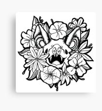 Happy Floral Bat Canvas Print