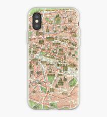 Vinilo o funda para iPhone Mapa vintage de París (1920)