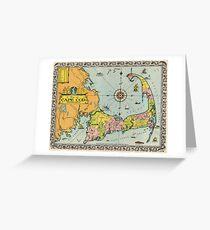 Vintage Map of Cape Cod Grußkarte