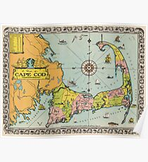 Cape Cod Map Posters | Redbubble