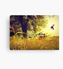 Nintendo Duck Hunt (no HUD) retro pixel art Canvas Print