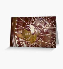 Jaguar wire wheel Greeting Card