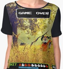 Duck Hunt pixel art Chiffon Top