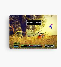 Duck Hunt pixel art Canvas Print
