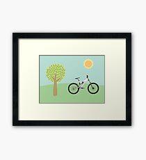 Downhill mountainbike Framed Print