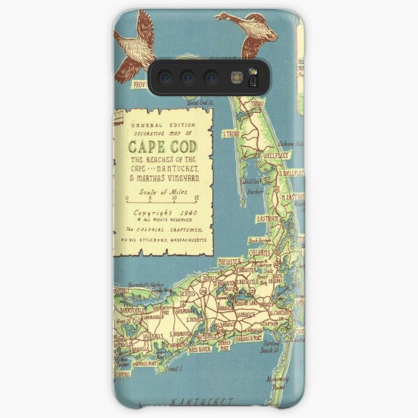 Vintage Map of Cape Cod (1940) Samsung Galaxy Snap Case