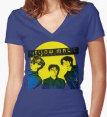 Yellow Magic Orchestra Women's Fitted V-Neck T-Shirt