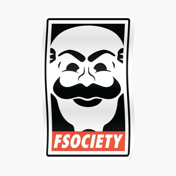 fsociety Mr. Robot Chemises, Stickers et Affiches Poster