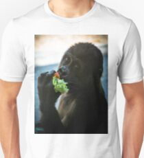 Baby Gorilla Eating Unisex T-Shirt