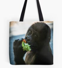 Baby Gorilla Eating Tote Bag