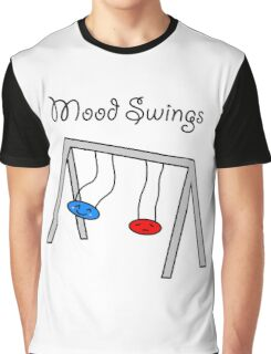 Funny Mood Swings Cartoon Graphic T-Shirt
